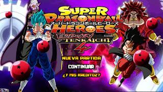 DRAGON BALL HEROES BUDOKAI TENKAICHI 4 LATINO PPSSPP