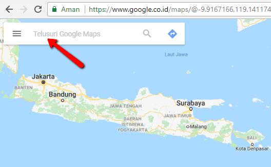 Tutorial Cara Mengetahui Jarak antara Dua Tempat dengan Google Maps