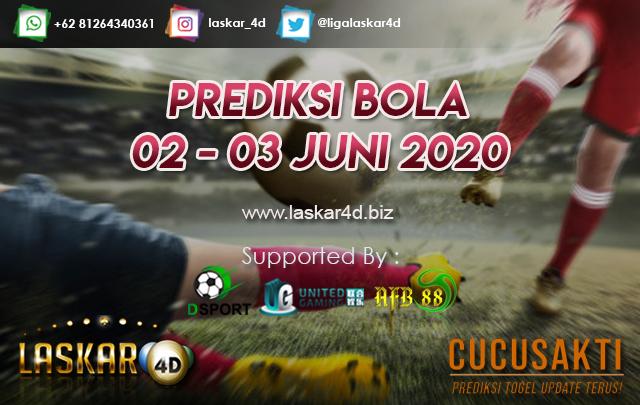 PREDIKSI BOLA JITU TANGGAL 02 – 03 JUNI 2020