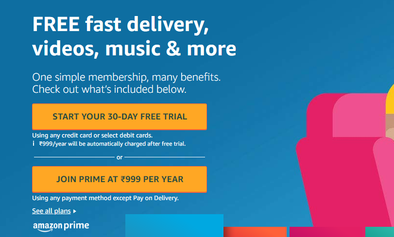 Amazon Free Prime Membership