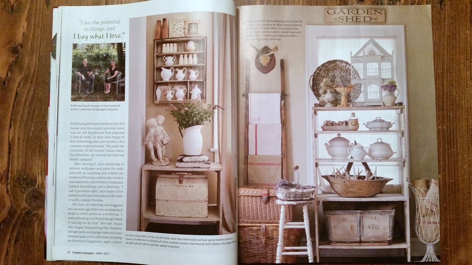must love junk: may 2017 country sampler magazine feature