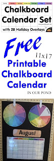 FREE Printable Chalk Board Set from In Our Pond