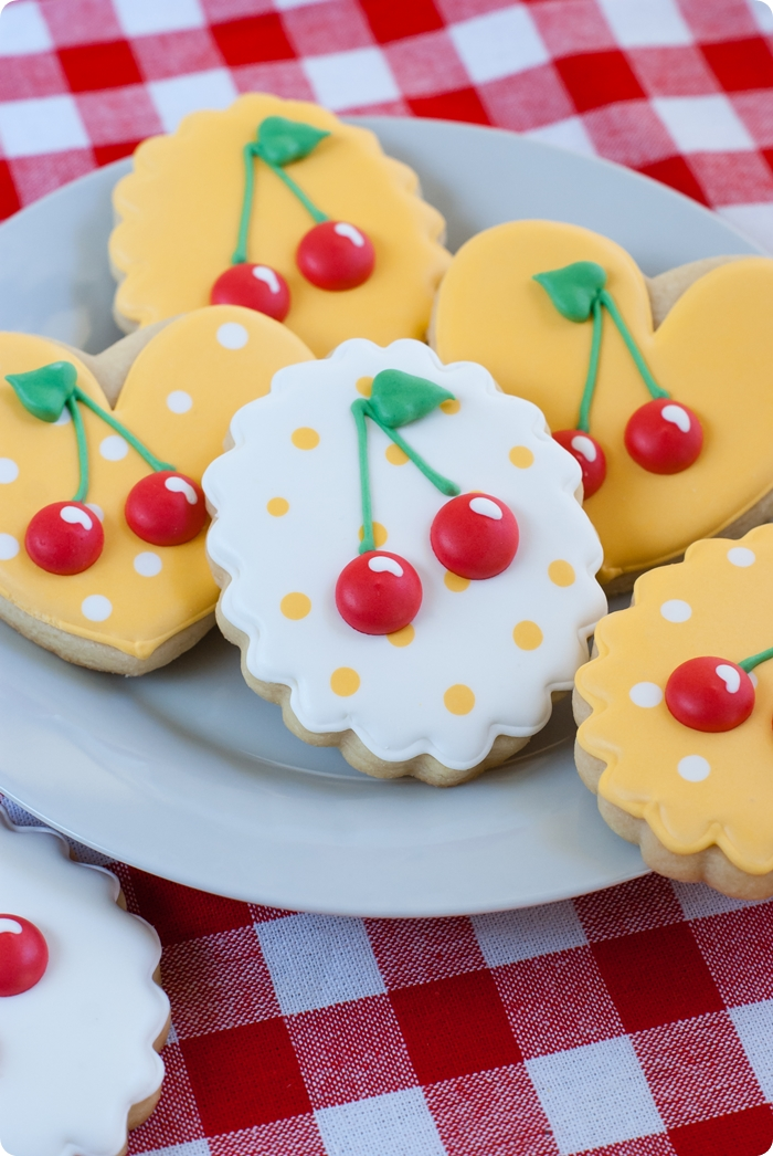 cherries decorated cookies