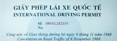 bằng lái xe quốc tế
