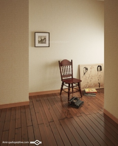 3. Pasang lantai kayu