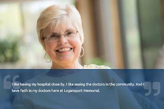 Logansport Memorial Hospital testimonial example
