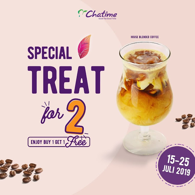 #Chatime - #Promo Special Treat For 2 Chatime House Blend Coffee (s.d 25 Juli 2019)