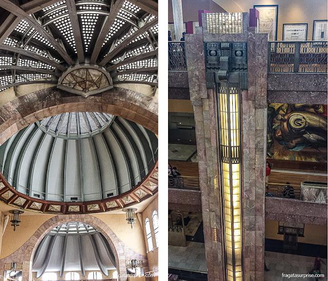 Decoração interna do Palácio Nacional de Belas Artes da Cidade do México