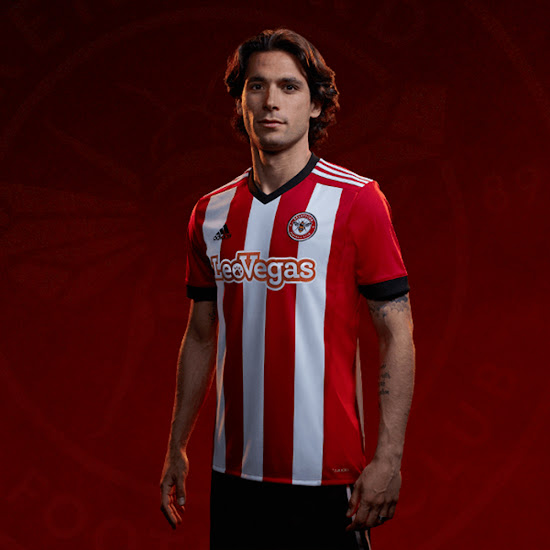 d07c3f016 New Club Logo - Brentford FC 17-18 Home   Away Kits Released - Footy ...