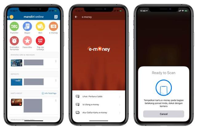 Akses Fitur e-money di Mandiri Online
