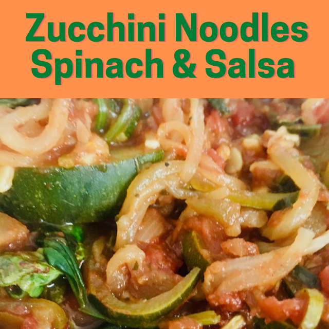 zucchini noodles and spinach