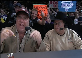 WWE / WWF Rebellion 2001 - Paul Heyman and Jim Ross called the show