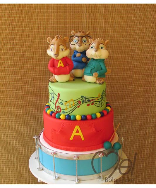 Bolos Festa Alvin e os Esquilos