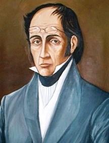Ilustración de Simón Rodríguez a color
