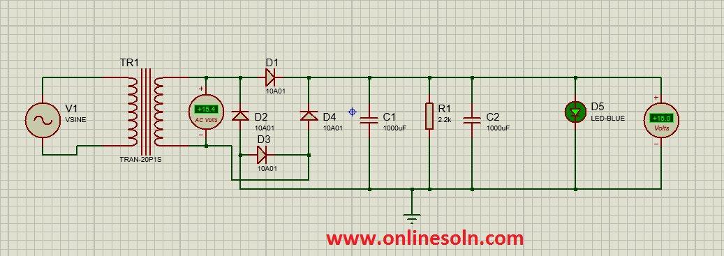 Power Supply 15v Circuit Diagram