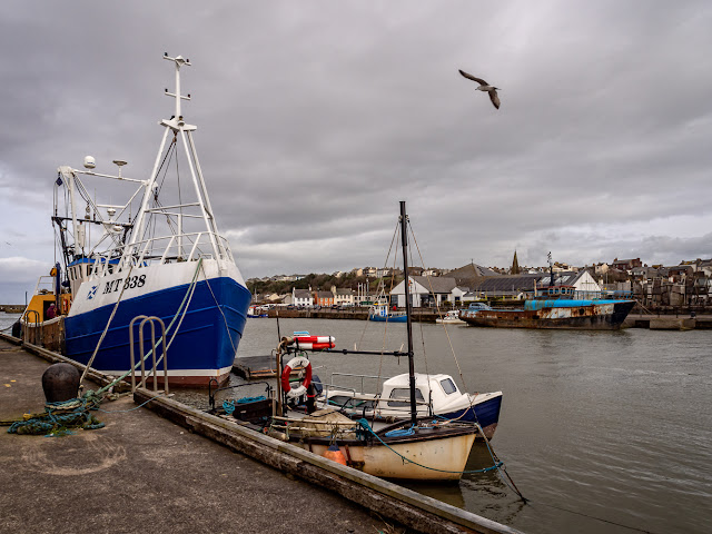 Photo of Maryport Harbour looking across to the Aquarium