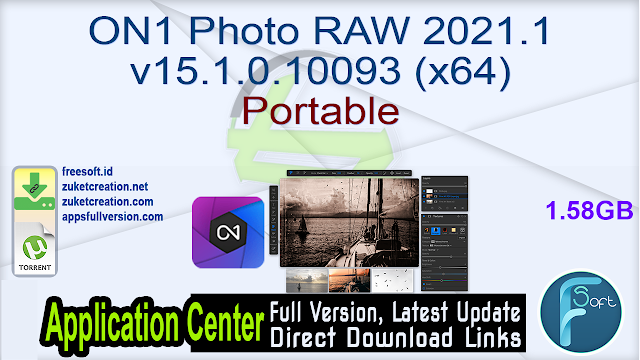 ON1 Photo RAW 2021.1 v15.1.0.10093 (x64) Portable