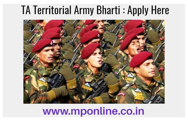 TA Territorial Army Bharti 2020