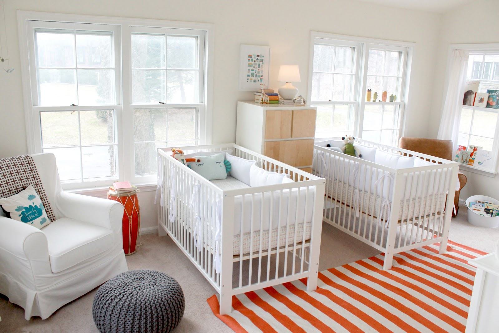 Charming Little Boys Bedroom - Interiors By Color   Twin Baby Boy Bedroom