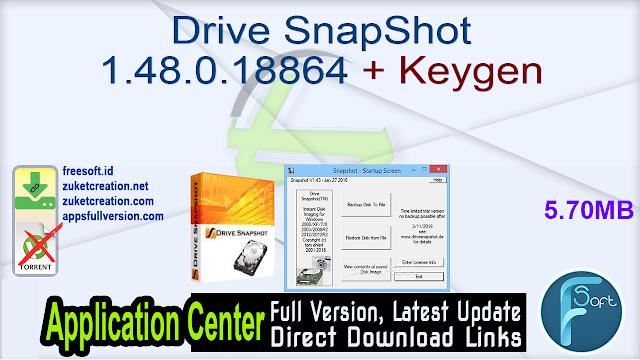 Drive SnapShot 1.48.0.18864 + Keygen