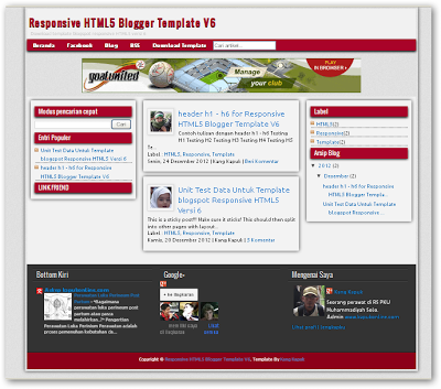 Template Blogger Responsive HTML5