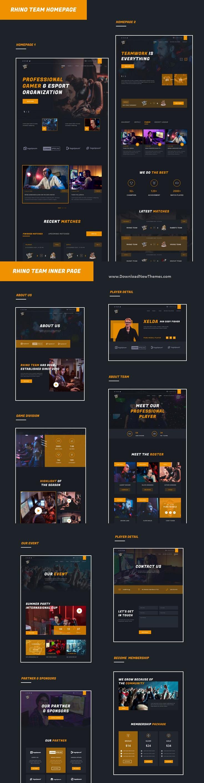 eSport & Game Events UI Kit
