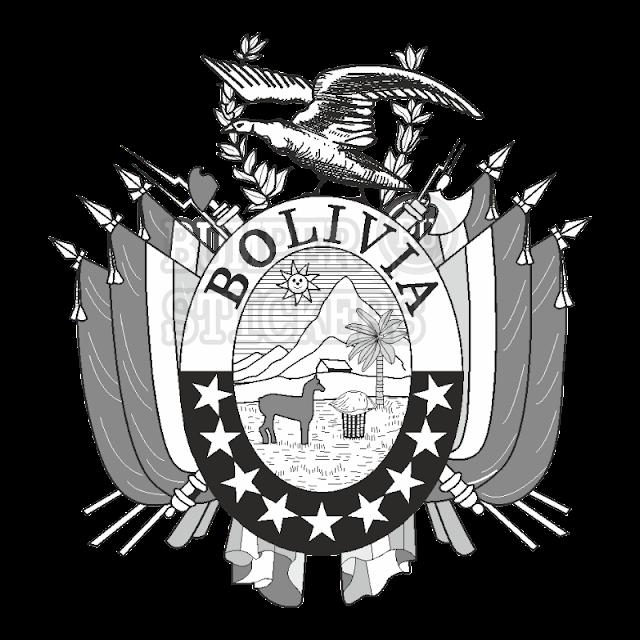 Escudo Bolivia dibujos de los símbolos patrios para pintar