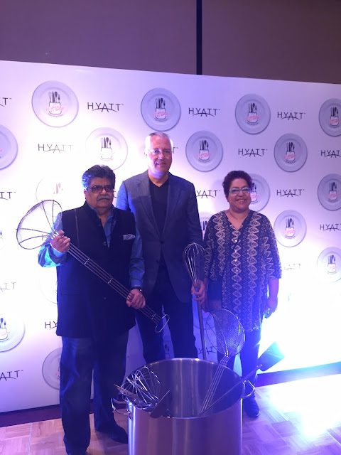 L-R _ Rocky Mohan-Director Mohan Meakins, Kurt Straub-VP Operations, Hyatt Hotels & Resorts India, and Marryam H. Reshii-Food Critic & Writer at Hyatt Culinary Challenge 2016 Gra