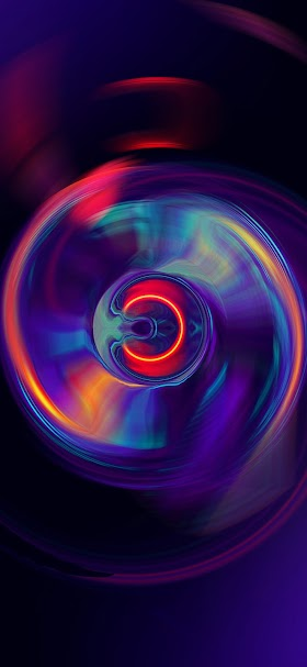 Colorful abstract light wheel wallpaper