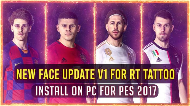 PES 2017 New Facepack V.1 For RT Tattoo By Rean Tech
