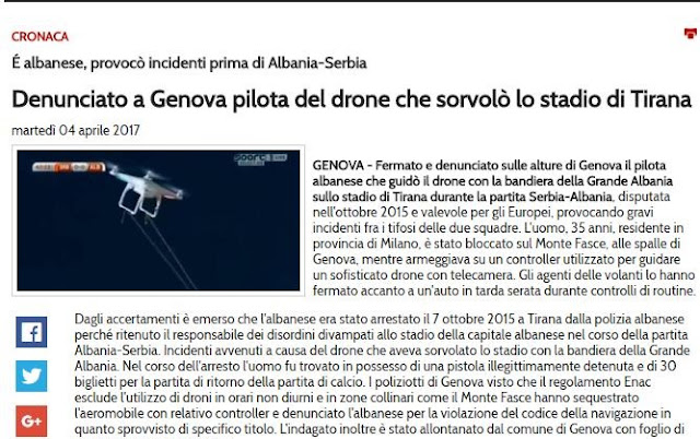 Drone Man - Ballist Morina detained by Italian Police