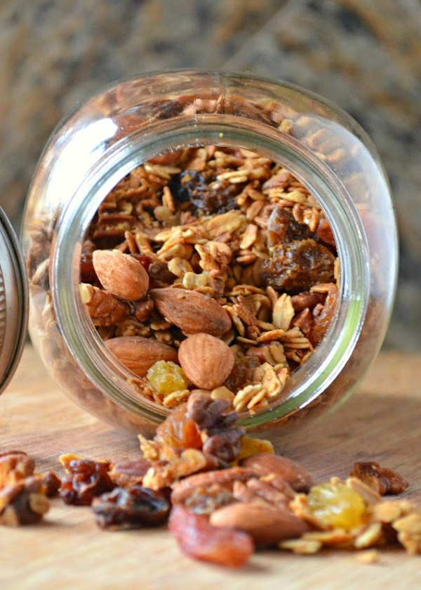 Healthy Granola recipe with Vanilla Honey Nut Raisin is a favorite easy recipe from Serena Bakes Simply From Scratch.