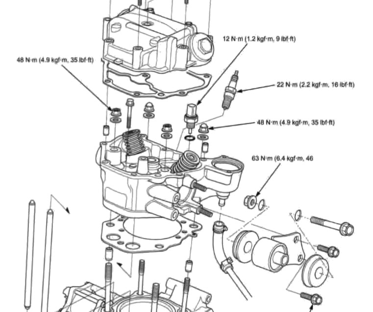 honda foreman engine diagram