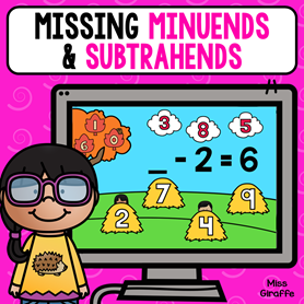Missing minuends and subtrahends game!