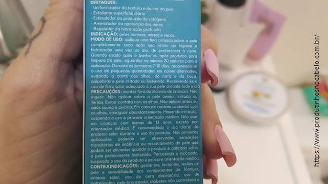 Creamy Azul como usar na embalagem
