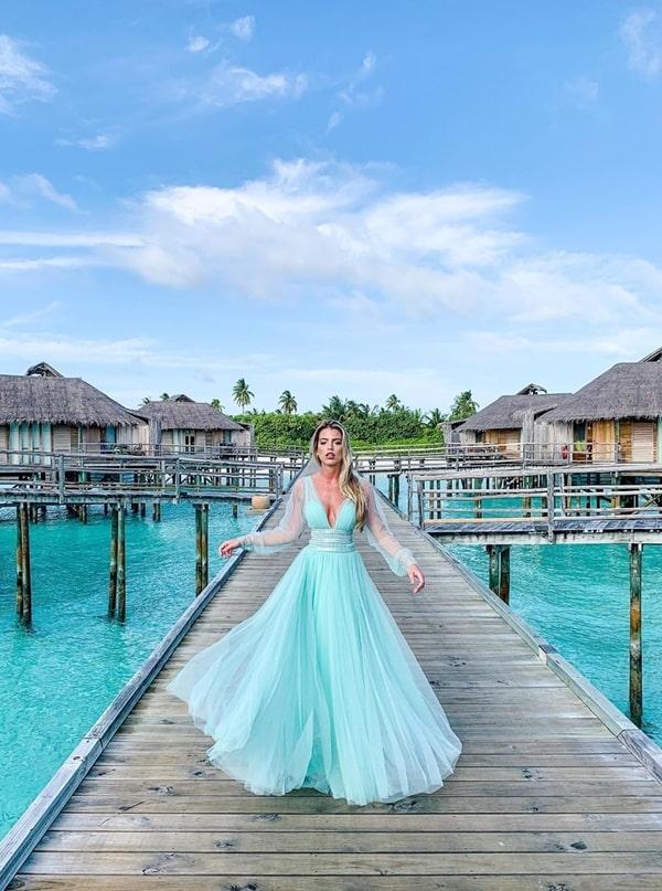 vestido tiffany para madrinha de casamento na praia