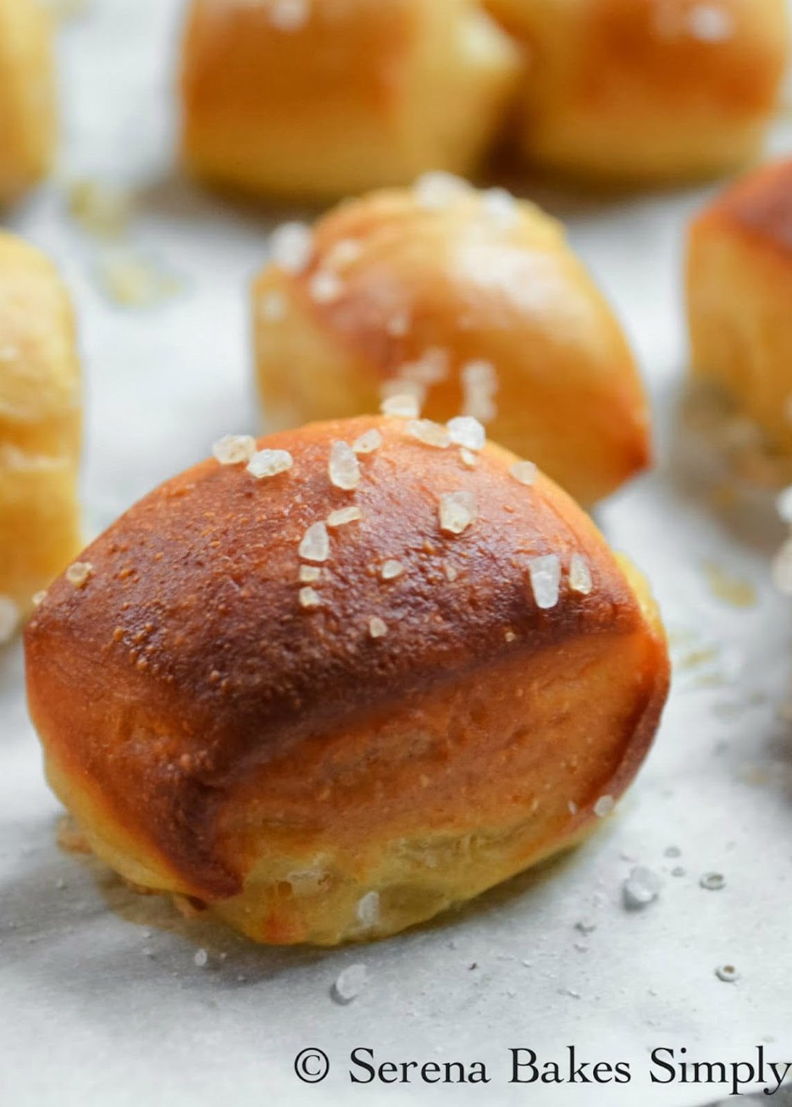 Pretzel Bites recipe baked in the oven are a family favorite for dipping in nacho cheese sauce.