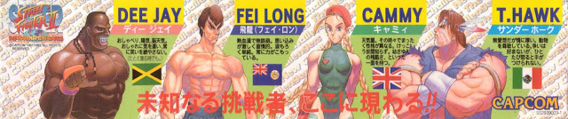 Street Fighter 30th Anniversary Collection - Super Street Fighter II - The New Challengers - 4 new characters: Dee Jay, Fei Long, Cammy, and T.Hawk