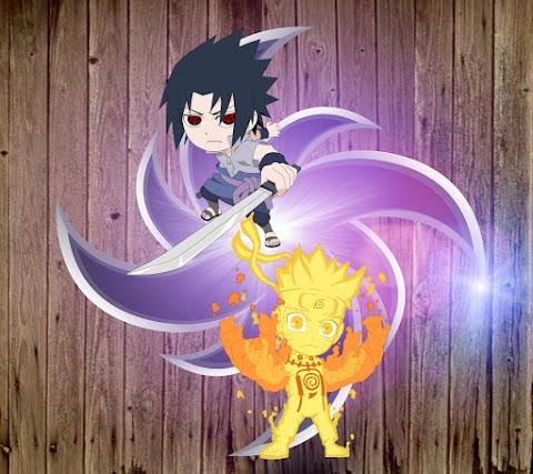 Ảnh Nền Điện Thoại Dễ Thương Của Naruto Và Sasuke