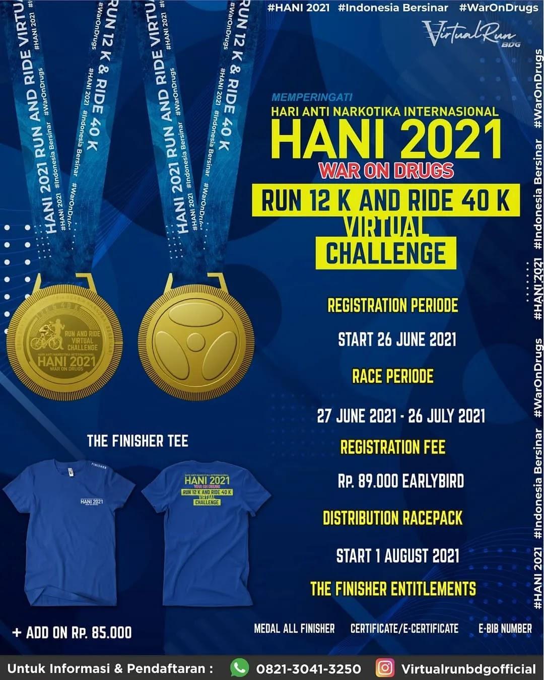 Virtual Run & Ride - Hari Anti Narkotika Internasional • 2021