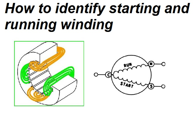 identifying starting and running winding of single phase