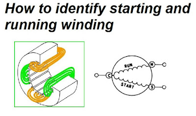 how to identify starting and running winding