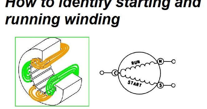 Identifying Starting And Running Winding Of Single Phase Induction Motor