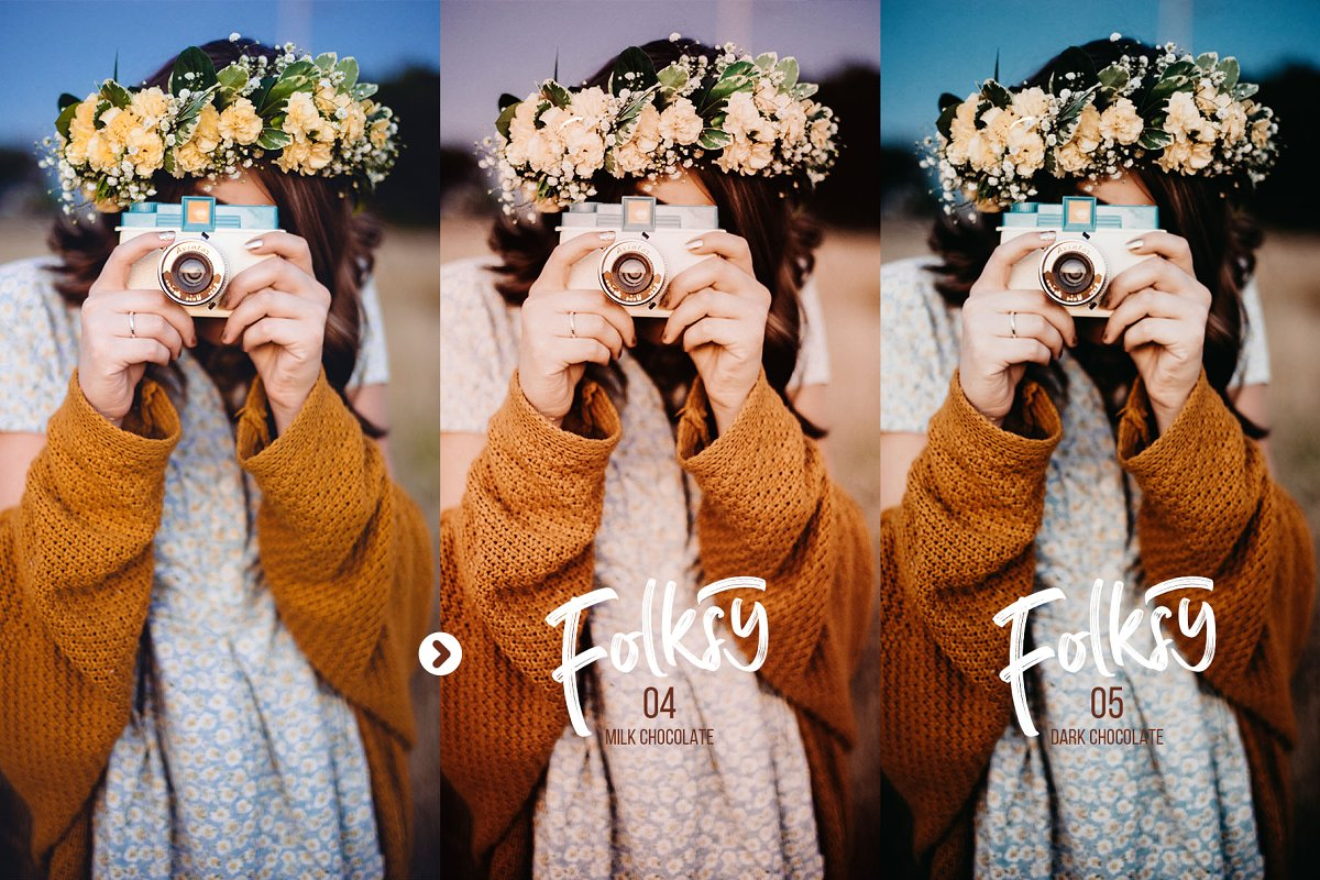Preset Camera Raw - Mobile -Desktop - Folksy Lightroom Presets (XMP, DNG, LR) Trị Giá $18
