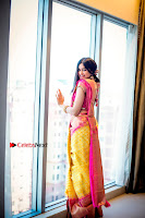 Actress Adah Sharma Exclusive Poshoot in Beautiful Yellow Silk Saree at Saree Niketan Showroom Launch  0007.jpg