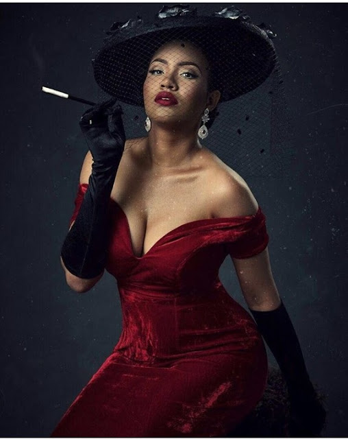 Ex Most Beautiful Girl In Nigeria, Anna, Rocks Cleavage-Baring Outfit For Halloween