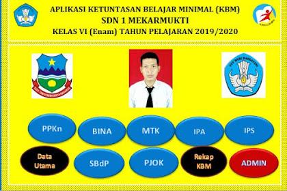 Silahkan Download Aplikasi KKM Kelas 6 SD TP. 2019/2020 Kurikulum 2013 Sudah Jadi