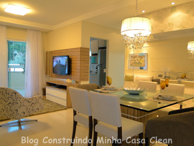 Construindo minha casa clean: 65 salas de jantar e estar ...