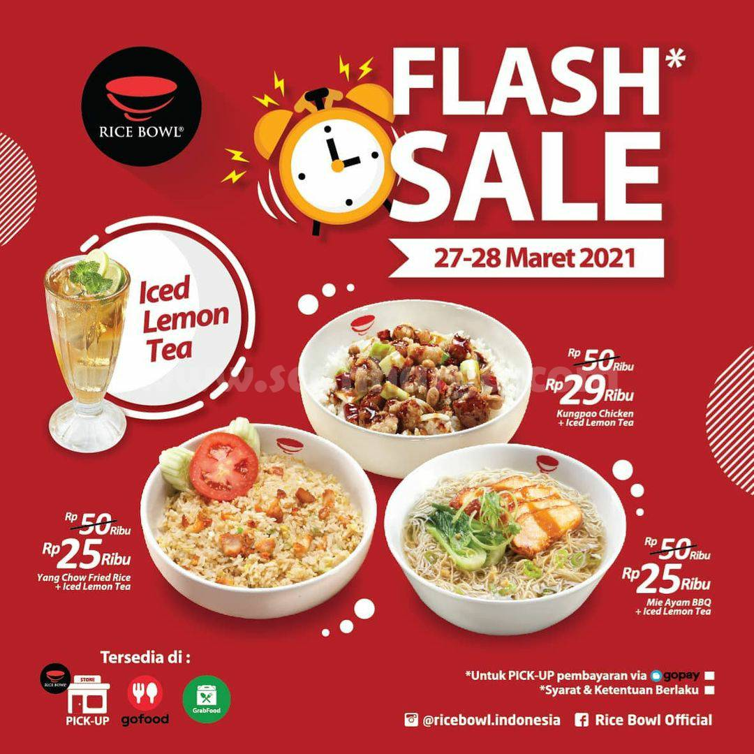 Rice Bowl Promo Flash Sale Spesial Menu mulai 25 Ribu