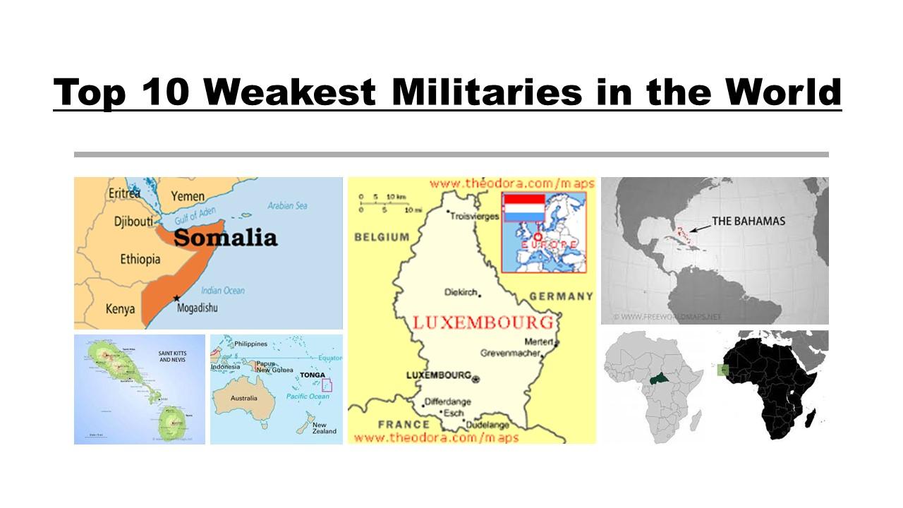 Top 10 Weakest Militaries in the World
